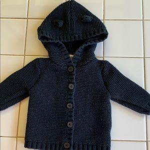 Other - Black hooded jacket
